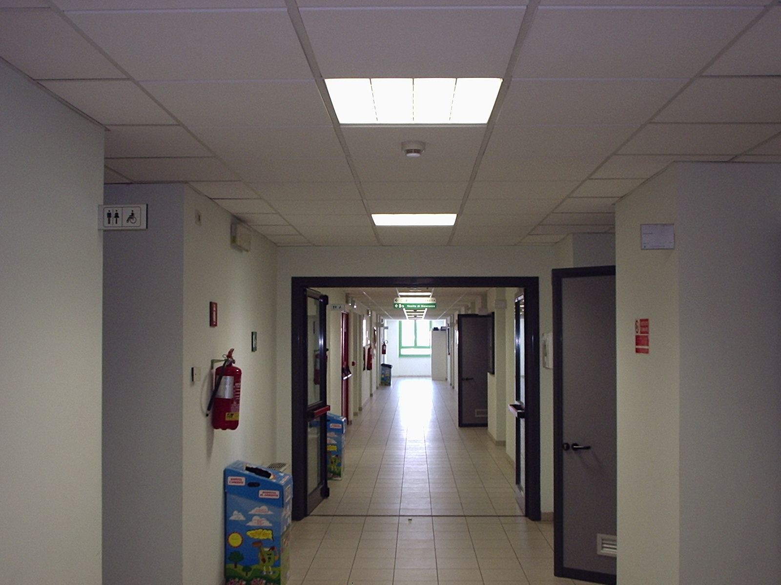disp-B, first floor, corridor